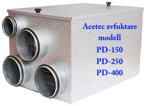 Avfuktare i PD-serien från Acetec ser idag likadana ut