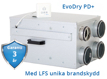 Acetec EvoDry PD+ för större kylrum