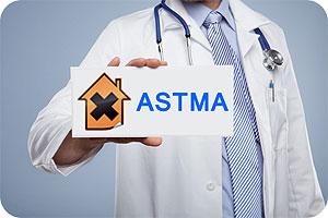 Astma kan utvecklas i sjuka hus