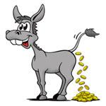 Bluff kring avfuktare liknas vid att en åsna skulle kunna omvandla mat till pengar