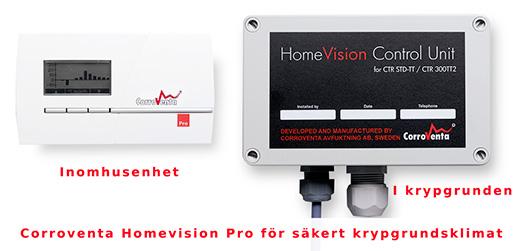Homevision Pro, ett trådlöst styrsystem till CTR 300TT2