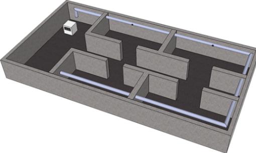 Avfuktare, placering i källare