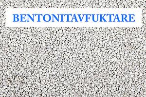 Bentonit, en slags lera använd som bentonitavfuktare