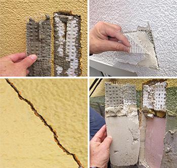 Tunnputs - enstegstätad fasad