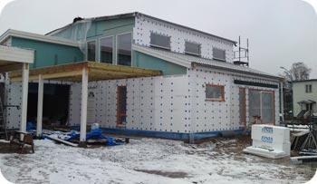 Hus med ventilerad fasad i Ljungby.