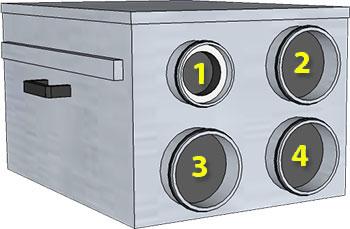 Acetec EvoDry PD med fyra stosar