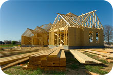 Hus under byggnation utsätts både för mögel och fukt