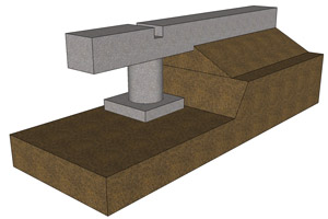 Rasmassor uppfyller utrymmet under krypgrundens kantbalk