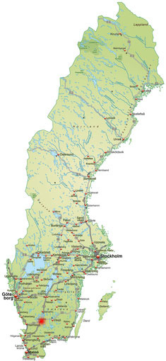 Ljungby är utgångsorten vid installation av avfuktare