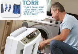 MJ-E16VX lämpar sig mycket bra för torkning av tvätt.