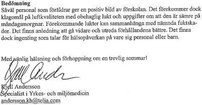 MM-enkäterna, Kjell Anderssons falska uttalande