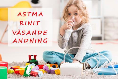 Barn får astma, rinit och väsande andning av fuktskada och mögel