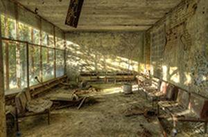 Mögel triggas av strålning från kärnkraftverket Tjernobyl