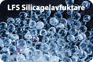 Silicagelavfuktare med granulat av Silica Gel