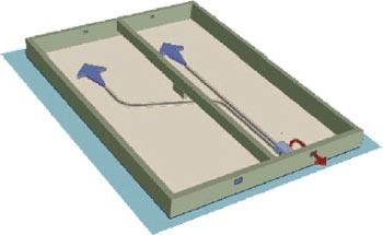 Avfuktare Sorptionsavfuktare Acetec installerad i krypgrund