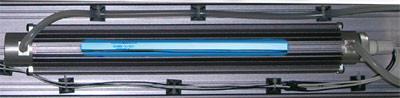 Tuben med UVC i vattenrenaren, kallad Lysatrontub