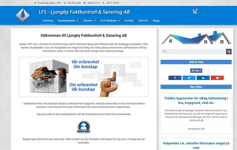 LFS - Ljungby Fuktkontroll & Sanering nya hemsidan