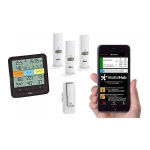 TFA Funk Weatherhub hygrometer för trådlös övervakning via mobiltelefon