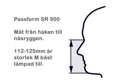 Andningsmask halvmask SR 900 storlek M